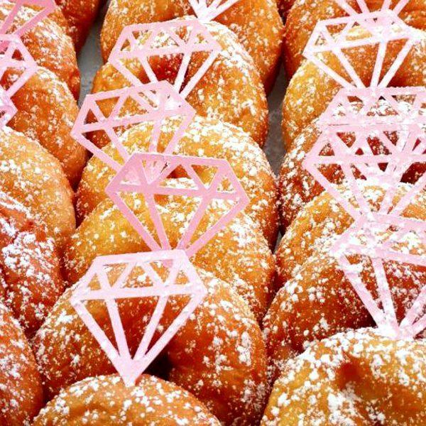 Machine cut donut toppers