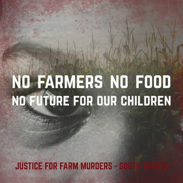 Promo graphic Justice for Farm Murders South Africa